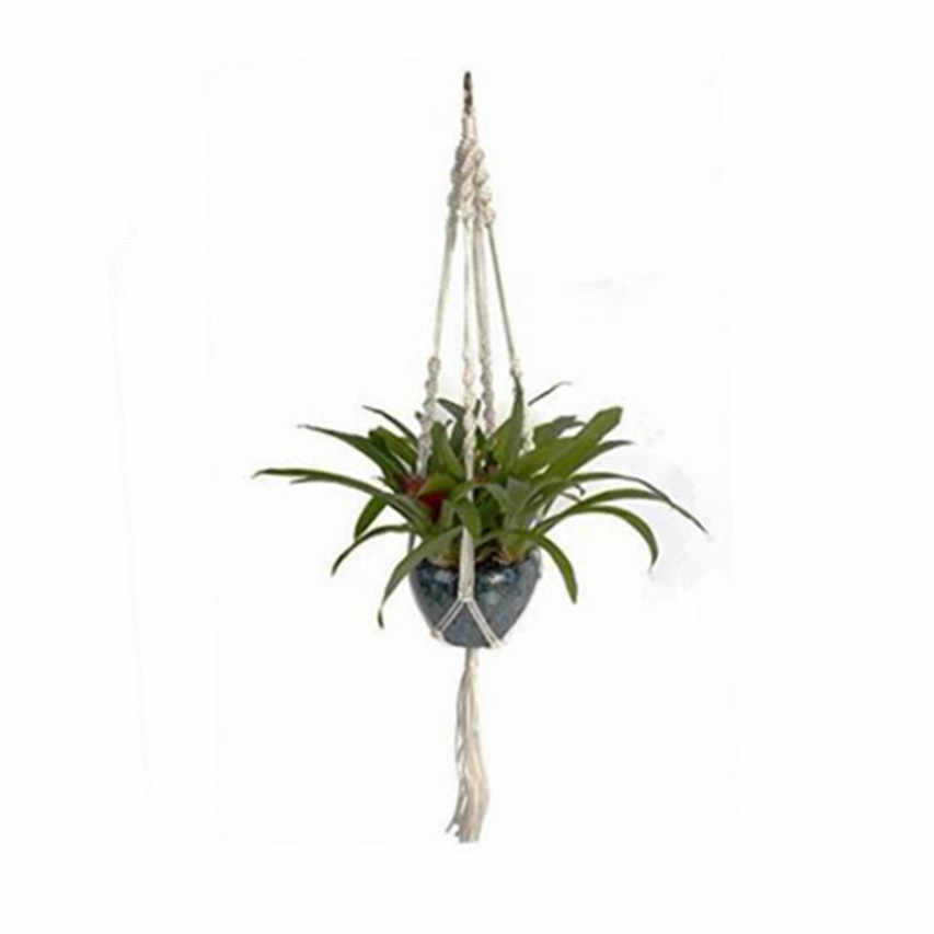 910 milímetros Macramé Juta Planta Hanger Hanging Titular Plantador Cesta para Vasos de Flores Jardim Ao Ar Livre Indoor Home Decor Decoração de Parede