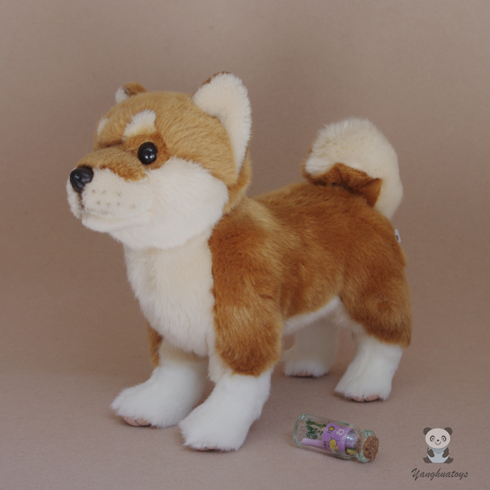Stuffed Animals Toy Akita  Dog  Doll  Kids Gifts  Toys Plush Simulation Stand Dogs kids draw animals