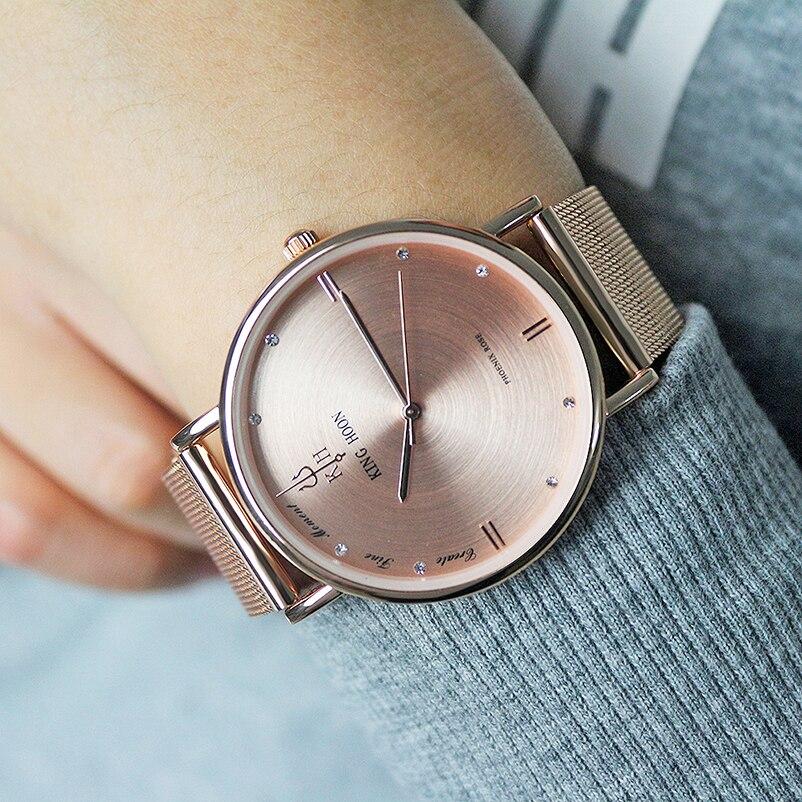 KINGHOON 2016 Marke Diamant Rotgold Uhren Frauen Mode Luxus Quarzuhr Armbanduhren frauen Uhren Für Frauen