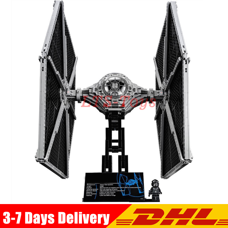 In Stock DHL Lepin 05036 Star Series Wars Tie Toys Fighter Building Blocks Bricks Compatible Legoely 75095 Children Boy Gifts