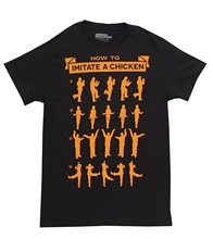 mens tshirt Arrested Development How To Imitate A Chicken Adult Black T-shirt
