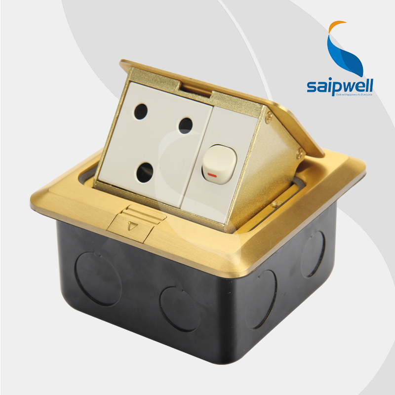 15A 220V India/ South Africa Socket & Switch / Luxury Goleden Cu ...