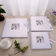 White DIY Photo Album Valentines Day Gifts Wedding Photo Album Guest Book Craft Paper  Anniversary Travel Memory Scrapbooking