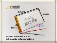 7 4V 11000mAh 195082 Polymer Lithium Ion Li Ion Battery For Tablet Pc Power Bank Cell