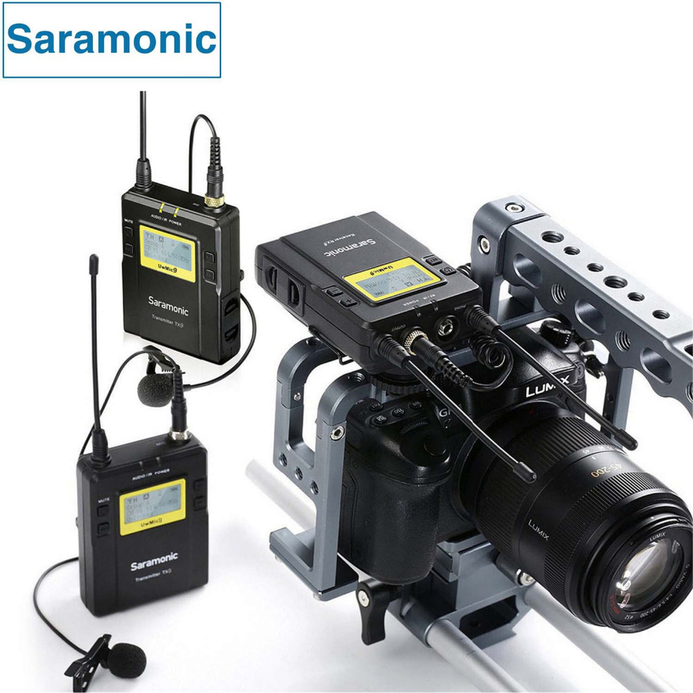 Saramonic UWMIC9 Broadcast UHF Camera Wireless Lavalier Microphone System Transmitters and Receivers for DSLR Camera &Camcorder 2 receivers 60 buzzers wireless restaurant buzzer caller table call calling button waiter pager system