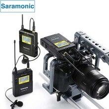 Saramonic UWMIC9 Cámara Sistema De Micrófono Inalámbrico UHF Broadcast Transmisores y Receptores para Cámara RÉFLEX DIGITAL y Videocámara