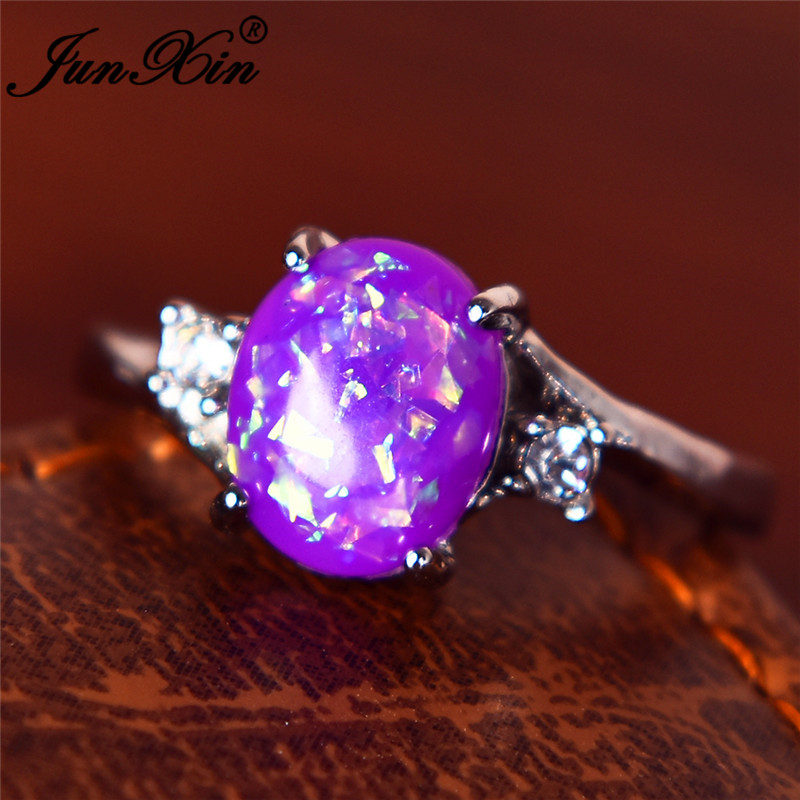 Aliexpress Com Buy Junxin Charming Purple Fire Opal