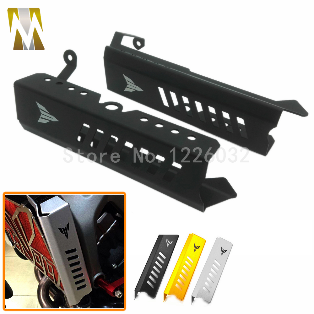 Motorcycle Aluminum Radiator Side Cover Guard Protection Black For Yamaha MT09 MT-09 FZ09 FZ-09 2013 2014 2015 2016 Gold Silver