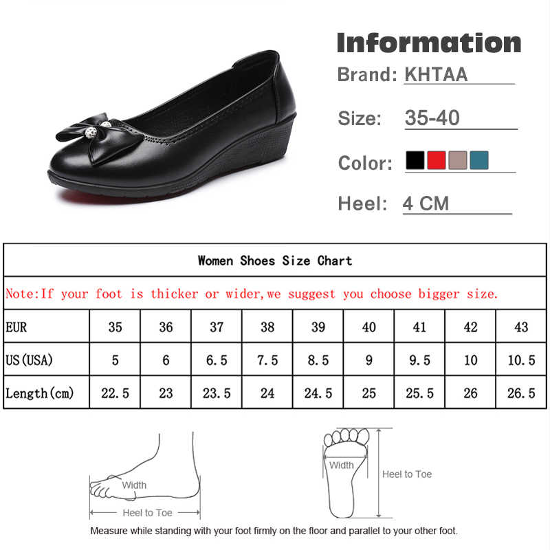 2a6304395b ... Wedges Bowknot Women Pumps Medium Heels Autumn Fashion Slip On Casual  Shoes For Female 2018 Shallow