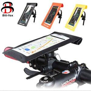 Image 1 - Su geçirmez Bisiklet Tutucu Dağı iPhone Samsung HTC için Yüksek Kalite telefon tutucu yuvası Evrensel Cep Telefonu 360 Derece Rotasyon