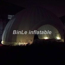 10m commercial rental house china outdoor beach garage wedding large car event cube party price camping inflatable tent with led