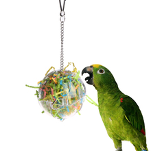 Newest Pet Parrot Toys Ball 1pcs Strings Bird Parakeet Chew Hanging Cage Hammock Colorful Budgie perch swing Toy