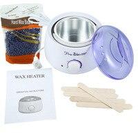 US Plug 500ml Wax Warmer 300g Lavender Hard Wax Beans 5pcs Wax Spatulas Hair Removal Waxing