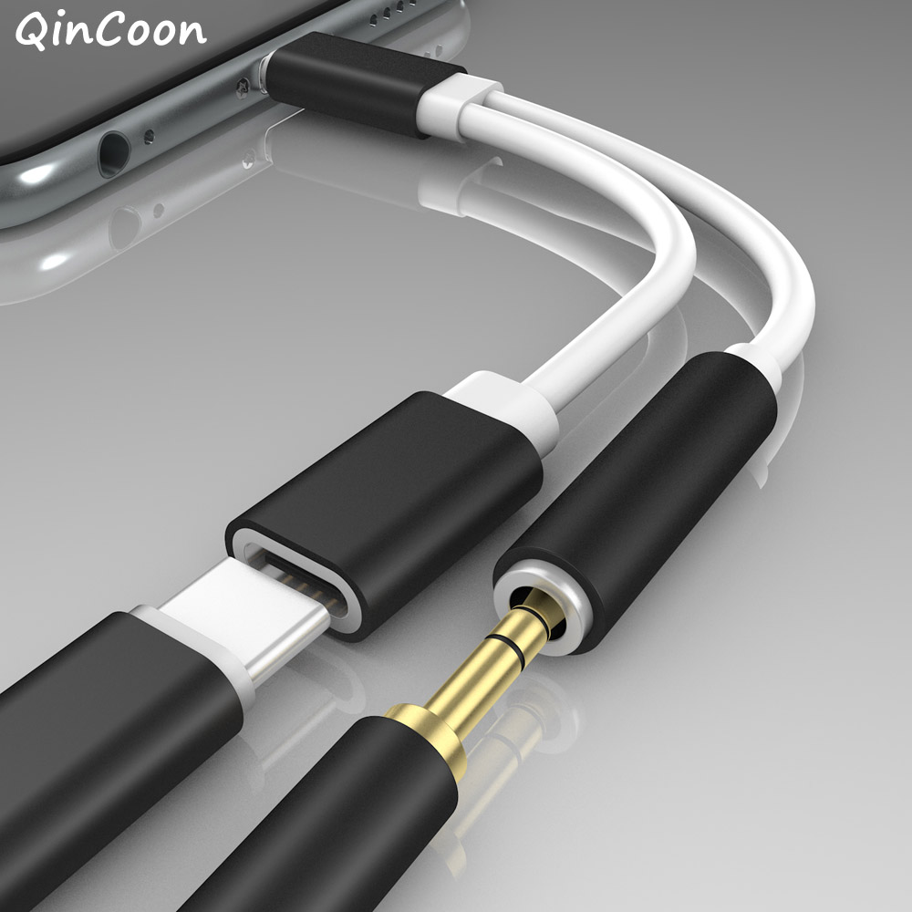 2 in 1 USB Type C to 3.5mm Jack Headphone Adapter Type-c to Earphone AUX Audio Charging Splitter Cable for Samsung Huawei Xiaomi