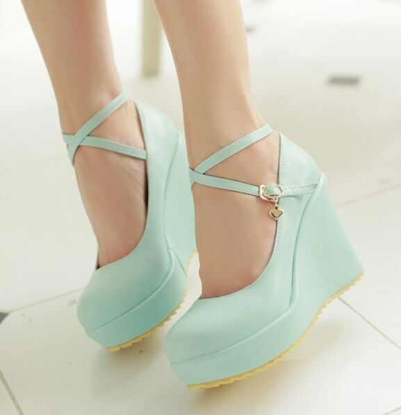 women wedges pumps shoes Summer shallow mouth high heeled shoes ...