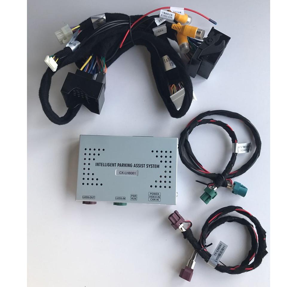 Автомобильный резервный видеоинтерфейс камеры с Умной системой помощи при парковке для BMW EVO
