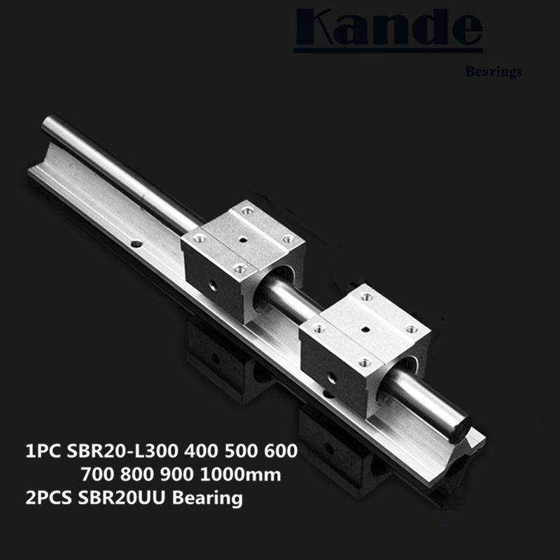 linear rail 20mm SBR20 300 400 500 600 700 800 900 1000 mm 1 pc linear