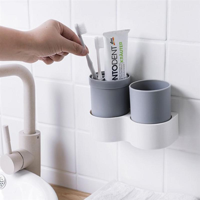 Image 4 - 1 Pc Non Toxic Toothbrush Holder Plastic Cup Holder Organizer Toothpaste Holder For Home Bathroom Countertop Storage Accessories-in Toothbrush & Toothpaste Holders from Home & Garden