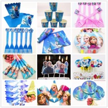 Disney Princess Frozen Anna Elsa Baby Shower Tableware Happy Birthday Party Decoration Disposable Tableware Favors Gifts кукла disney frozen elsa