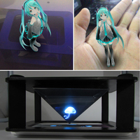 3D Hologram Display Type And Indoor Application Pyramid Hologram Display Hologram Pyramid Luxury Showcase For Smartphone