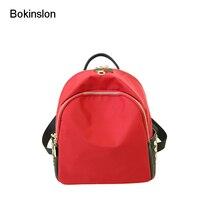 Bokinslon Школьные сумки для Женская мода Оксфорд Рюкзаки женский сплошной Цвет Популярные Для женщин Рюкзаки Сумки высокое качество