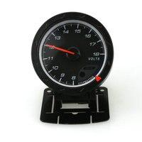 2017 New Black Face Non Smoke Volt Car Gauge Meter White LED 60mm High Quality Voltmeter