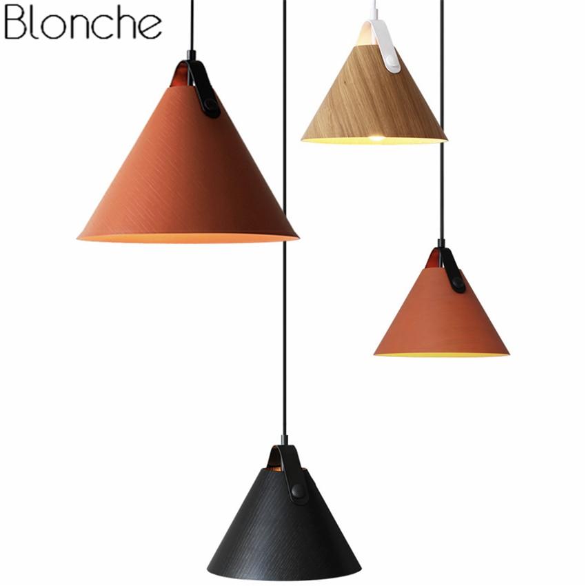 Nordic Wood Pendant Lights Led Hanging Lamp Modern Indusrtial Hanglamp for Dining Room Bedroom Kitchen Fixtures Luminaire Decor