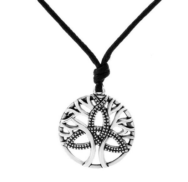 New arrivals 5pcs silver trinity symbol tree of life necklace new arrivals 5pcs silver trinity symbol tree of life necklace steampunk tibetan pendant jewelry unique necklace in chain necklaces from jewelry aloadofball Choice Image