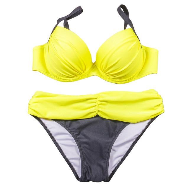 NAKIAEOI Sexy Bikinis Women Swimsuit 2018 Summer Low Waisted Bathing Suits Halter Top Push Up Bikini Set Plus Size Swimwear XXL 5
