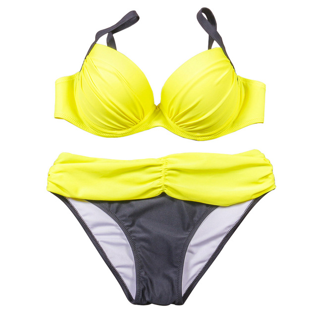 NAKIAEOI Sexy Bikinis Women Swimsuit 2018 Summer Low Waisted Bathing Suits Halter Top Push Up Bikini Set Plus Size Swimwear XXL