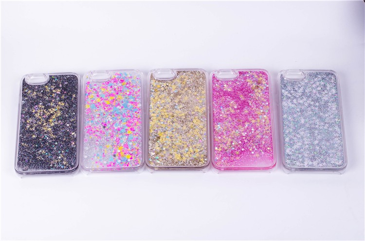 Half-wrapped Case Smart Luxury Twinkle Glitter Stars Flowing Water Liquid Case For Iphone 6 6s 4.7 6 Plus 6s Plus 5.5 Clear Quicksand Plastic Covers