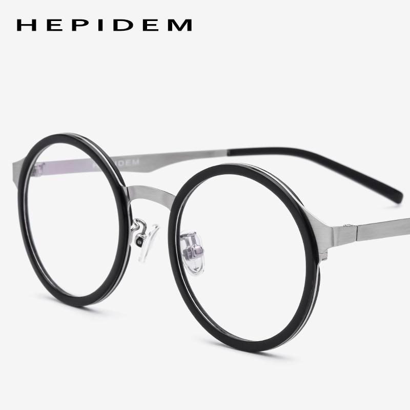 Herren-brillen Bekleidung Zubehör 2019 Neuestes Design Acetat Brillen Rahmen Frauen Metall Vintage Runde Vintage Rezept Brillen Männer Retro Brillen Optische Brillen 8007 Online Rabatt