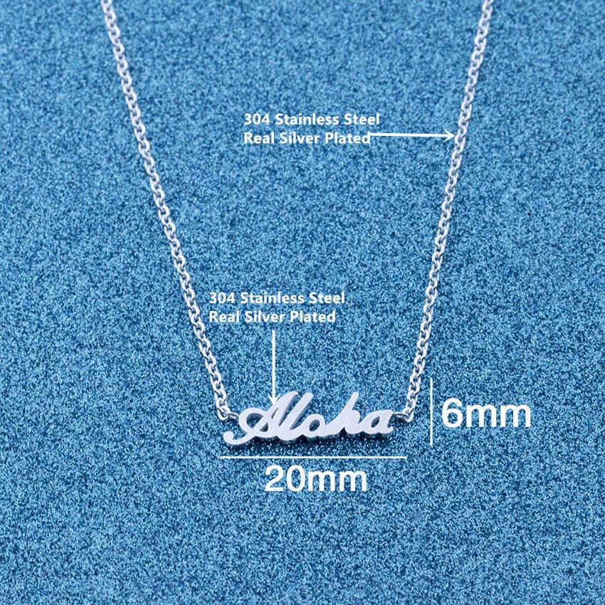 V Attract Romantic Boho Metal Chain Aloha ID Bracelets Women Couples Valentine Gift  Stainless Steel Femininity Bangle