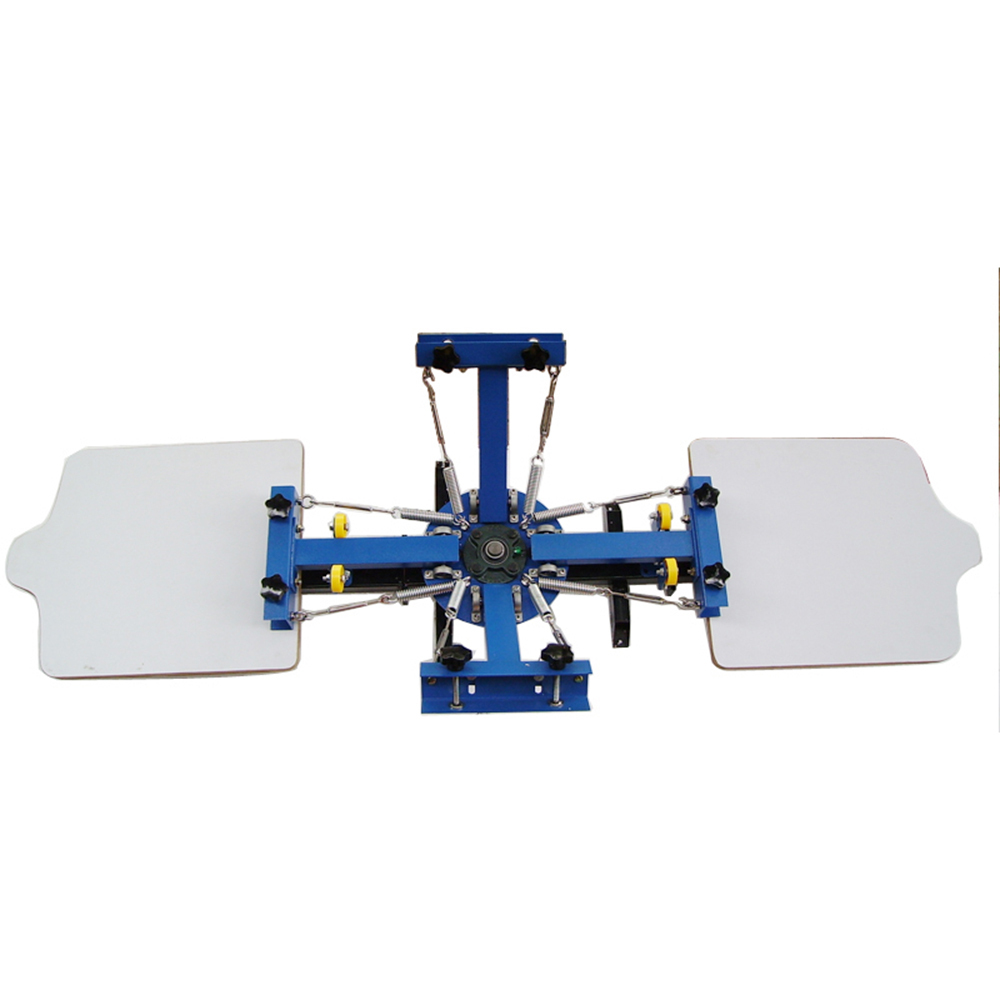 new 4 color 2 station screen printing press machine diy t shirt