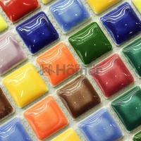 Shipping Free Lovely Glazed 25x25mm Ceramic Mosaic Tiles12x12 Homer Mosaic HME7048 11 Sq Ft Lot