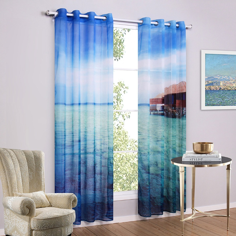 Modern Style Curtains Living Room Aliexpresscom Buy Modern Style Scenic Window Curtains Living