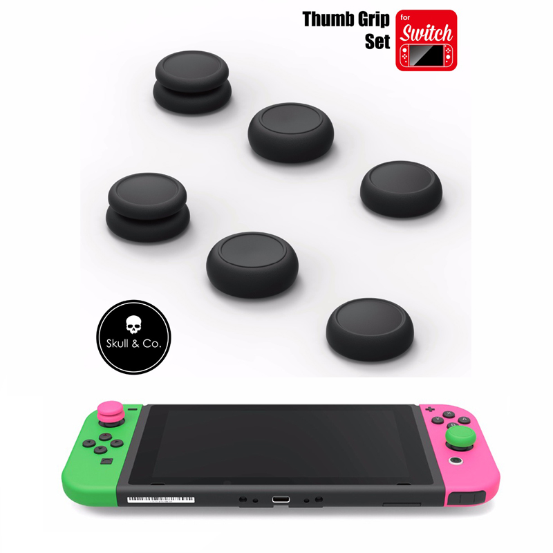 Skull & Co. FPS Master CQC Elite Thumb Grip Set Joystick Cap Thumbstick Cover for Nintend Switch Joy-Con Controller