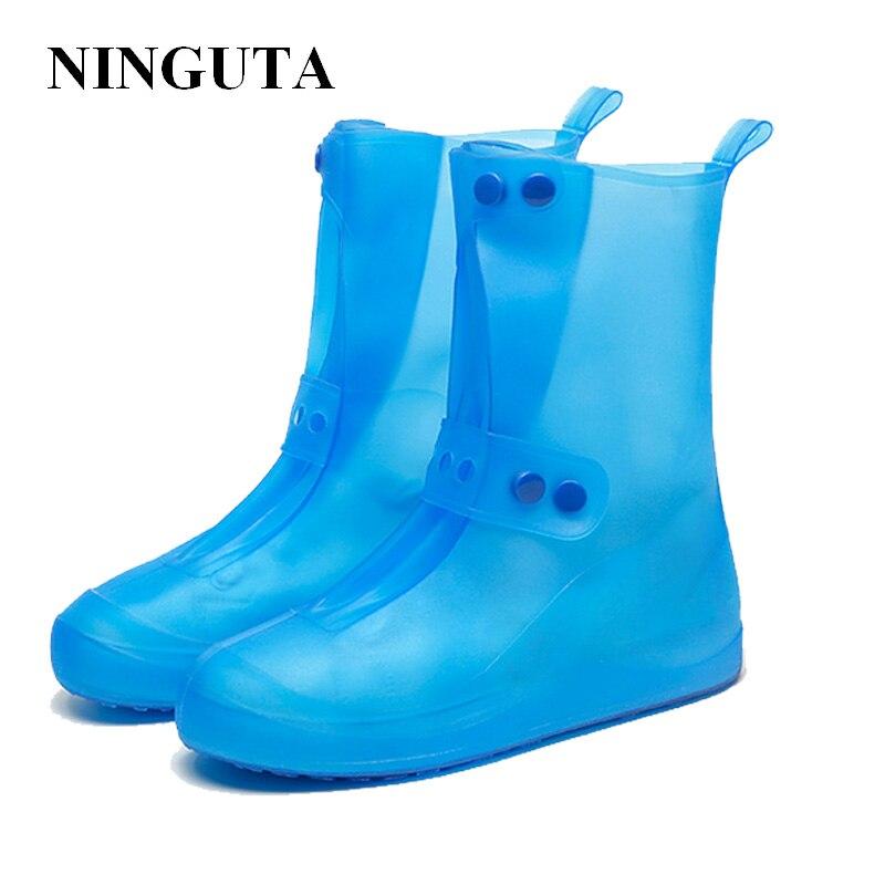 Schuhe Schuhzubehör Kinder Nicht-slip Schuh Abdeckung Erwachsene Überschuhe Outdoor Rain Reusable Wasserdichte Pvc Verdicken