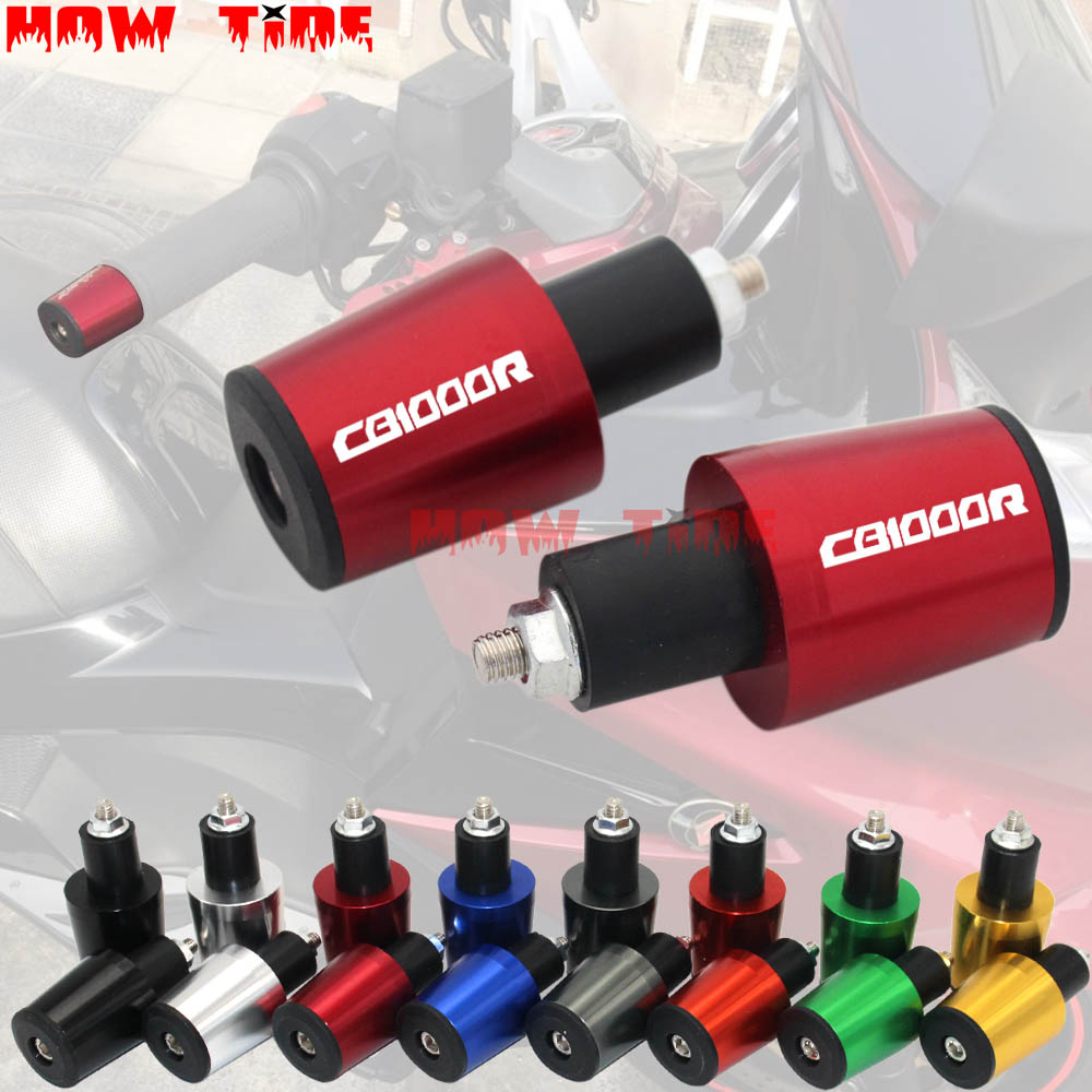 Motorcycle Accessories 7/8'' 22MM Handlebar Grips Handle Bar Cap End Plugs For Honda CB1000R CB 1000R CB1000 R 2008-2018