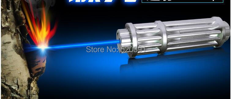 NEW High Powered 50w 50000mw Flashlight blue laser pointers 450nm Burning Match candle lit cigarette wicked lazer torch+5 caps