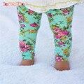3 Cores do Outono Do Bebê Calças de Algodão Flores Calças Para Meninas Leggings Crianças Calças Roupas