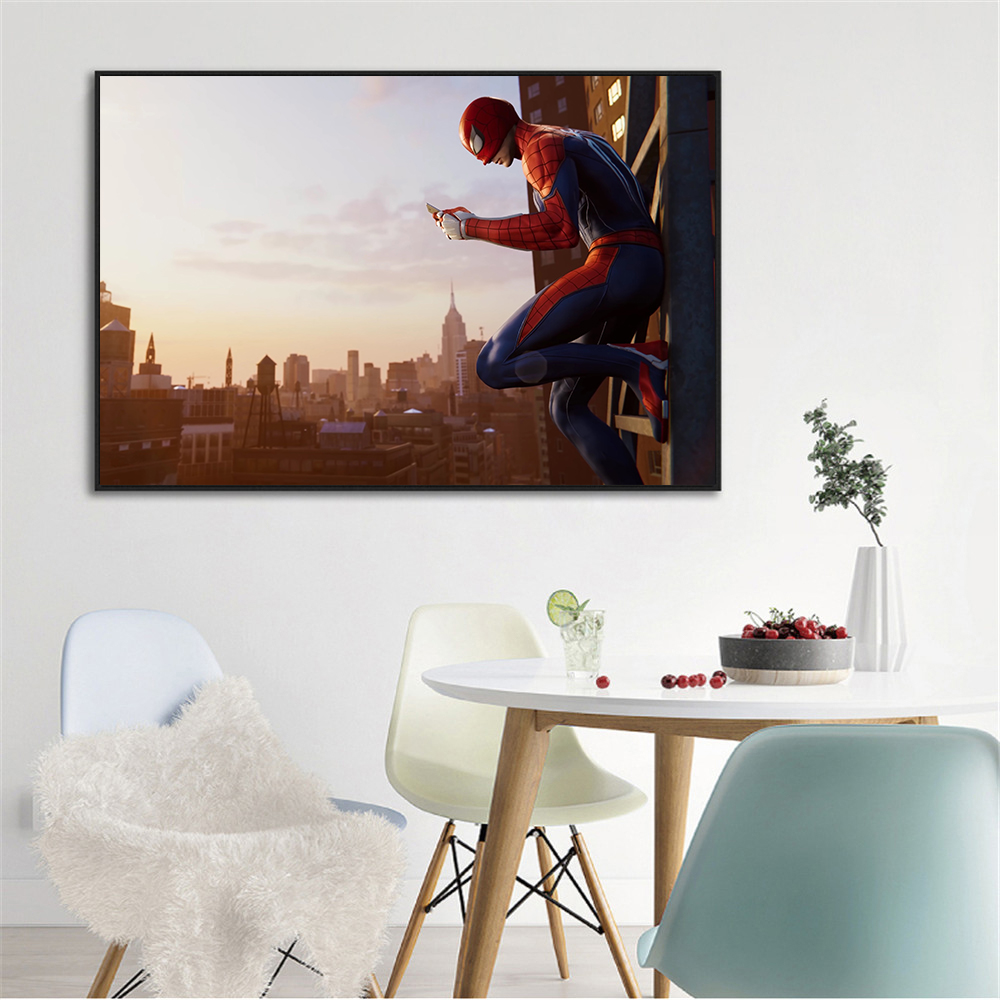 Posters Wall Art Canvas Painting Amazing Spider-Man Super Hero Spiderman Cartoon Painting Home Decor For Living Room Cuadros