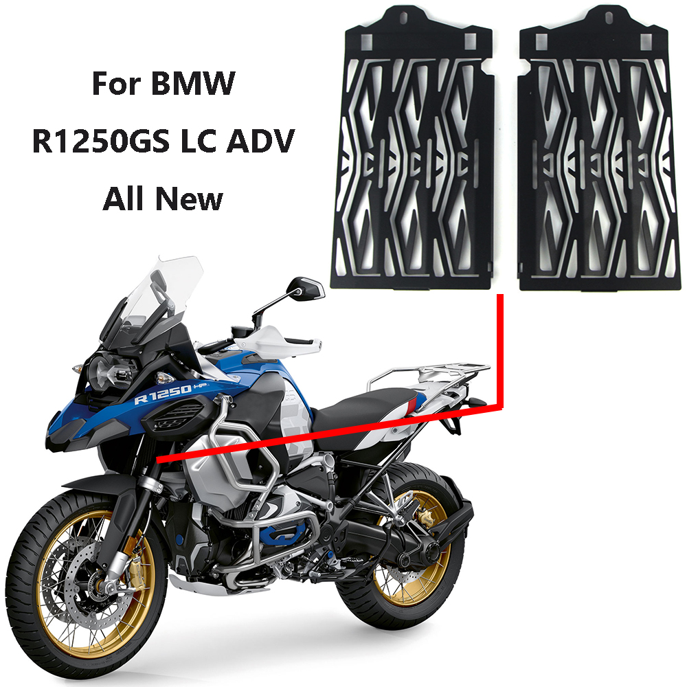 For BMW R1250GS LC R1250 GS LC ADV Adventure 2019 Aluminum Motorcycle Radiator Guard Protection Grille