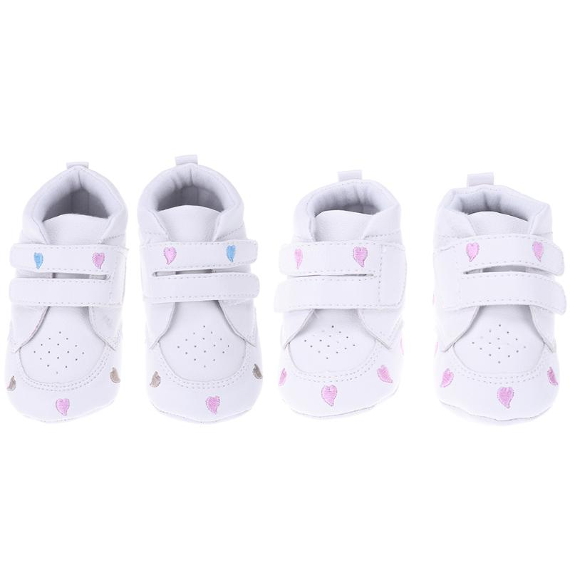 Baby Shoes Newborn Boys Girls Heart Pattern First Walkers Kids Toddlers Artificial Leather Sneakers 0 to 18 Months