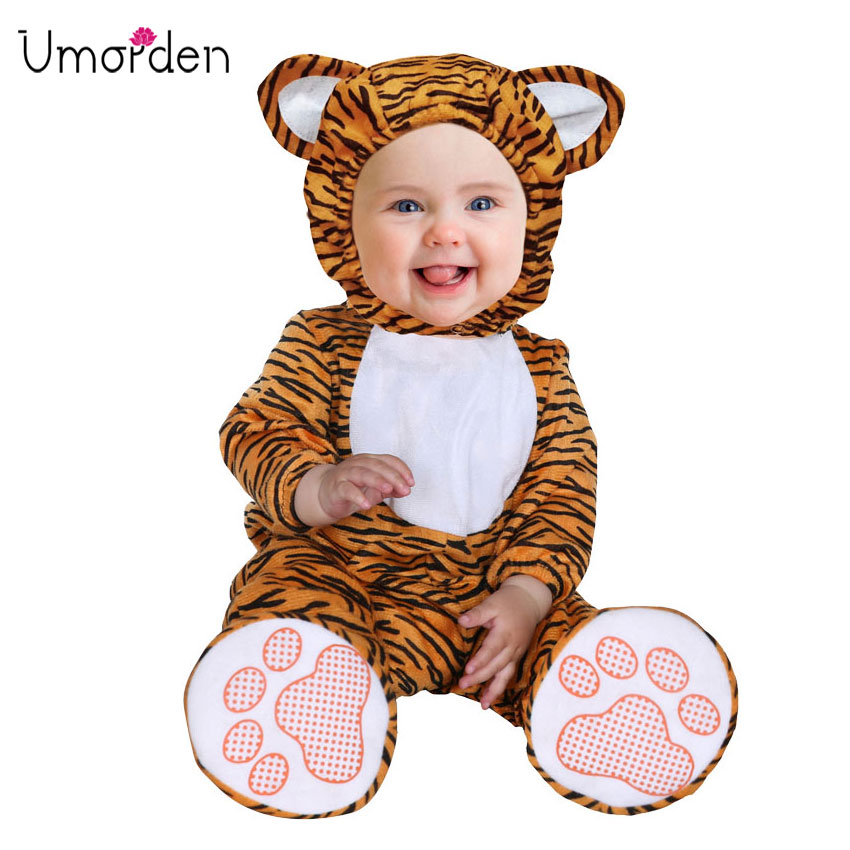 Infant Tiger Costume | Umorden Carnival Halloween Costumes Toddler Infant Baby Animal Tiger Costume Cosplay For Baby Girl Boy Fancy Dress Jumpsuit