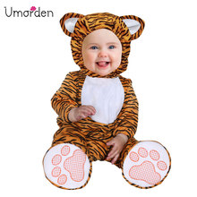 Umorden Carnival Halloween Costumes Toddler Infant Baby Animal Tiger Costume Cosplay for Girl Boy Fancy Dress Jumpsuit