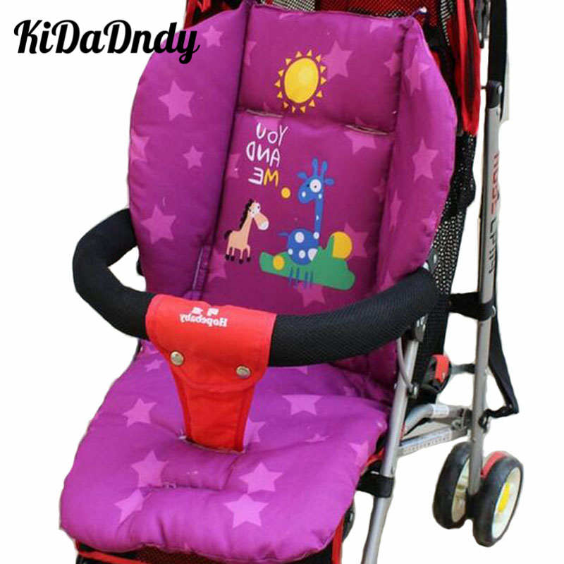 Kidadndy Baby Stroller Seat Cushion Car Thermal Pad Child Carriage Cushion Cartoon Cart Stroller Mattresse Pillow Cover LL