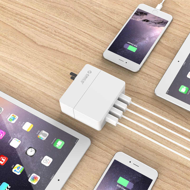 Orico Portable Dinding Travel Charger 4 Port 30 W USB Charger untuk Ponsel Tablet Perangkat USB EU/AU/ uk/US Plug Charger