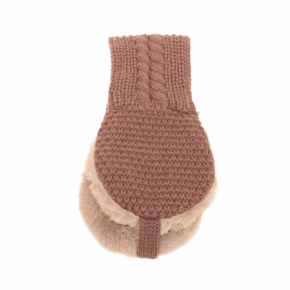 Kids Vintage Wool Ear Covers Warm Knitted Cute Head Wear Accessories Solid Color Autumn Winter Wool Made
