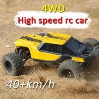 4WD высокая скорость rc гоночный 2,4 г 40 км/ч 1:12 пульт дистанционного управления Внедорожник rc гусеничный привод восхождение RC игрушки, светоди